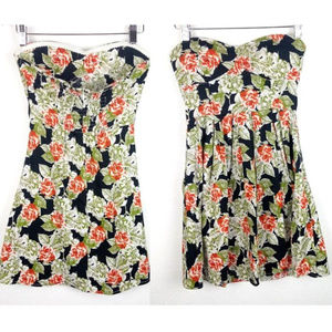 Feathers Floral Strapless Dress Size M